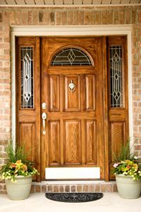 Hinged, fiberglass, steel entry doors